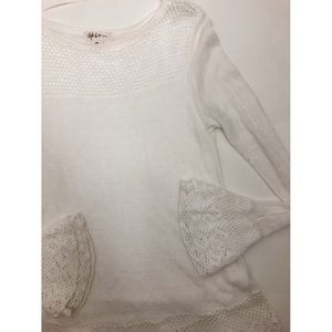 Style&Co White Bell Sleeve Sweater Size Petite S